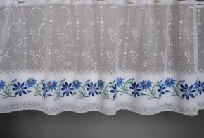 0.55м  Е45П 08с6272-Г50 рис. набивки полотно гардинное 0,55 8/6 (синий цветок)