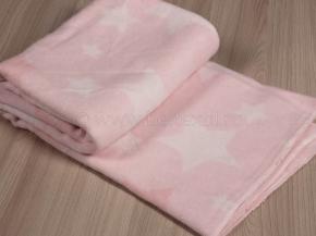 Одеяло хлопковое 100*118  жаккард   цв. нежно-розовый
