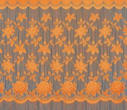 22С14-Г10 рис. 2063 Занавеска 250*250 см цвет оранжевый
