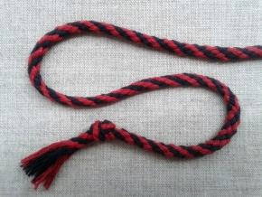 ШХ8-005-8/12 Шнур, D-5мм, х/б 100%, малиновый/черный