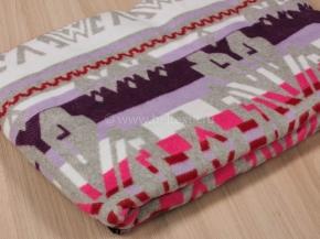 Одеяло хлопковое 170*205 жаккард 37/08 цвет серый с розовым