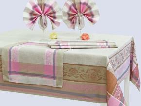 16с412-ШР/уп. 150*175 + 6 салфеток 48*48 Комплект столовый Традиция цвет 4 кофе