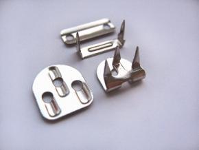 Брючный крючок 3 шипа/4 дет. никель (уп.100шт)