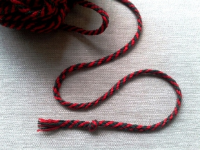 4мм. ШХ8-004-6/7 Шнур, D-4мм, х/б 100% зеленый/красный