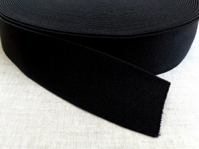 Резинка помочная (стандарт) 40мм, черная (рул.20м)