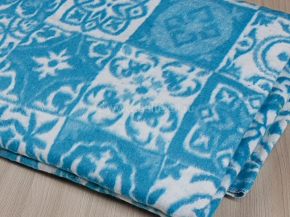 Одеяло байковое 170*205 жаккард  цв.синий