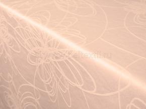 "Ткань скатертная арт.14С7SHT ""Мирелла"" рис.003 цвет 141119 бежевая ширина 310 см"