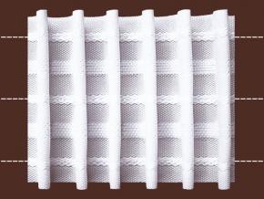 04С3180ПЭ-Г50 ЛЕНТА ДЛЯ ШТОР белый 65мм, параллельная сборка 1:2,5 (рул.50м)