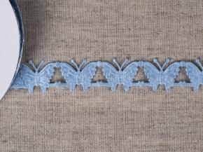 095030360 Лента декоративная шир.20мм, бабочки голубой (уп.25ярдов/22,86м)