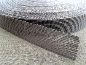 Тесьма вязан.окантовочная 22мм (2,4гр/м), св.серый (рул.100м)