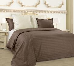3308Z КПБ 2-х спальный сатин-страйп с европростыней Мокко