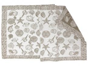 17с124-ШР/у 60*120 полотенце Море цвет серый