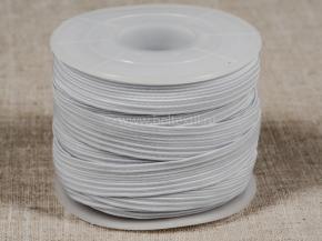 10мм. Резинка ткацкая 10мм, белый (рул.10м) Тип F