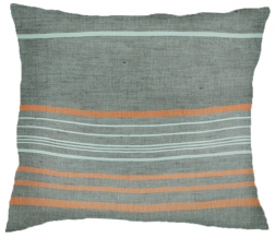 16с324-ШР Наволочка верхняя 70*70 цв.1 рис 9 серый с оранжевым