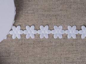 095030100 Лента декоративная шир.20мм, белые цветы (уп.25ярдов/22,86м)