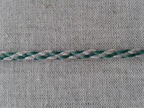 05С2272-Г50 ШНУР ОТДЕЛОЧНЫЙ лён с зеленым 5мм (рул.100м)
