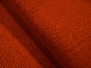 Ткань костюмная арт. 176003 лен гладкокрашеный цвет Терракот 30Т, ширина 150см