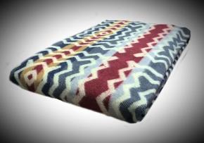 Одеяло хлопковое Эконом 140*205 жаккард 17.7 цвет бордо с серым