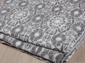 Одеяло байковое 170*205 жаккард  цв.серый