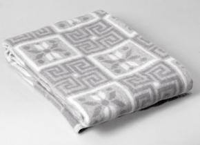 Одеяло п/шерсть 50% 140-205 жаккард серый