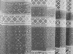 1.55м Д81АГ/155 ПОЛОТНО ГАРДИННОЕ белый с серым