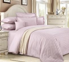 1381W КПБ 1.5 спальный сатин-страйп Розовый крем