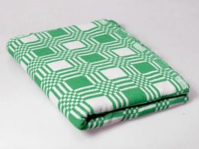 Одеяло байковое  в/уп. 170*205 клетка  цв. зеленый