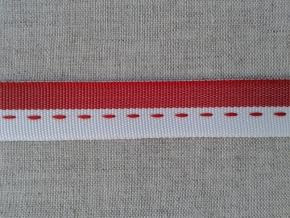 08С3500-Г50 ЛЕНТА ПРИКЛАДНАЯ белый/красный 15мм