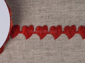 095030315 Лента декоративная шир.20мм, сердце красный (уп.25ярдов/22,86м)