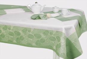 """12С520-ШР/уп. 150*150 Комплект столовый """"Ливень"""" цвет зеленый"""