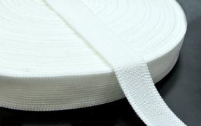 3С235-Г50 ТЕСЬМА ВЯЗ.ОКАНТОВОЧНАЯ 18мм (4,28г/м) белый (рул.30м)