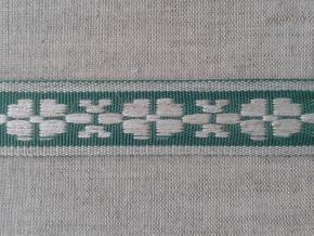 3876 ЛЕНТА ОТДЕЛОЧНАЯ лен с зеленым 20мм