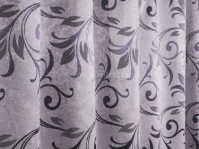 Ткань блэкаут T HY 9535 WZGA-05/280 PJac BL т.фиолет на жемчужно-сером, 280см