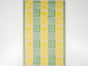 """17С317-ШР 48*70 полотенце """"Кофе"""" цв.34 лимон с зеленым"""