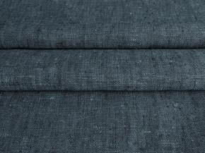 Ткань костюмна 05с-27ЯК лен меланж ХМ усадка рис.10,8/7,3 7,14 черный/бирюза, ширина 150см