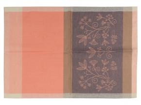 17с102-ШР 49*70 Полотенце Травы розовый