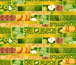 Полотно вафельное набивное грунт Тропический остров рис.19556/1, ширина 150см
