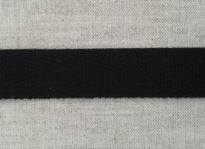 7С653-Г50 ЛЕНТА УШКОВАЯ (штрипочная) черный 25мм (уп.50м)