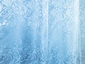 Жаккард T ZG L507-17/148 голубой, ширина 148см