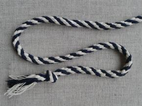 ШХ8-007-1/5 Шнур, D-7мм, х/б 100%, натуральный/т.синий