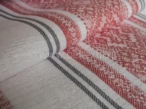 Холст полотенечный арт. 17с-12ЯК п/лен пестроткань Вышивка/1 красный, ширина 50см