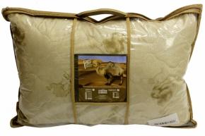 Подушка тик полиэфирный/ 2-х камерная/ стежка/верблюжья шерсть 50*70
