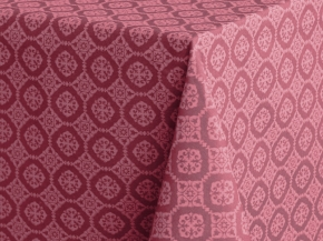 3833-БЧ Скатерть 220*145 4502-05 Орнамент цв. темно-розовый