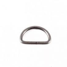 Полукольцо металл 20мм, никель (уп.500шт)