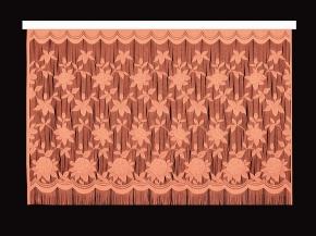22С13-Г10 рис.2063 занавеска 165*250 цвет персик