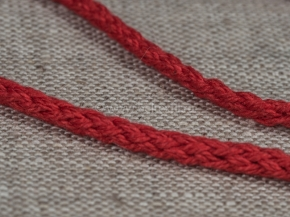 3мм. ШХ8-003-7 Шнур, D-3мм, х/б 100%, красный