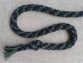 ШХ8-007-5/6 Шнур, D-7мм, х/б 100%, т.синий/зеленый