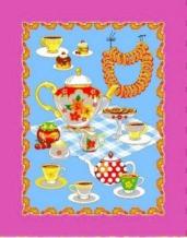 """Полотенце вафельное """"Чай"""" розовый купон 45*60"""