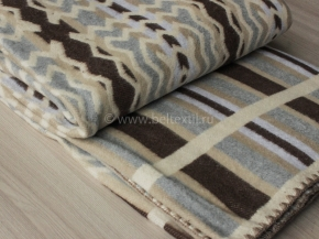 """Одеяло хлопковое 230*205 жаккард  """"Аляска""""  цв 4 коричневый"""