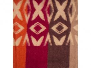 Одеяло п/шерсть 70% 170*205 Жаккард  цв .оранж.-бордовый